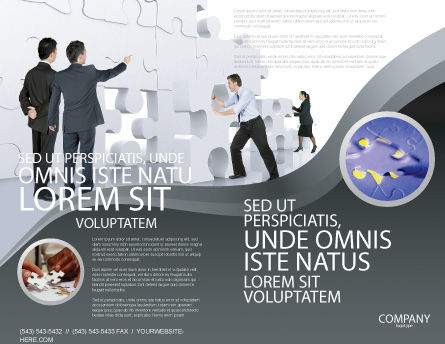 Brainstorm Brochure Template, Outer Page, 02856, Business Concepts — PoweredTemplate.com