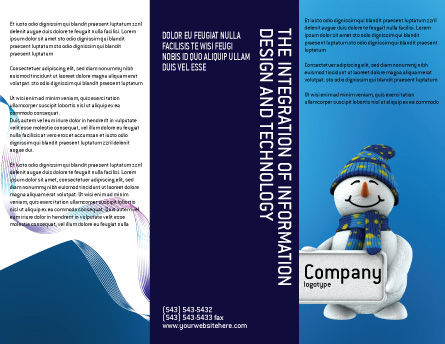 Smiling Snowman Brochure Template, Outer Page, 02857, Holiday/Special Occasion — PoweredTemplate.com
