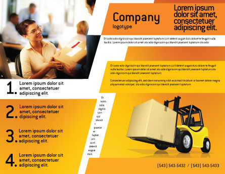 Yellow Loader Brochure Template, Outer Page, 02863, Cars/Transportation — PoweredTemplate.com