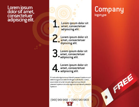 Label Brochure Template Outer Page