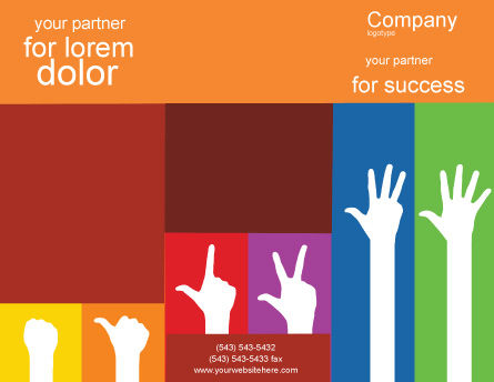 Counting Brochure Template, Outer Page, 02868, Education & Training — PoweredTemplate.com