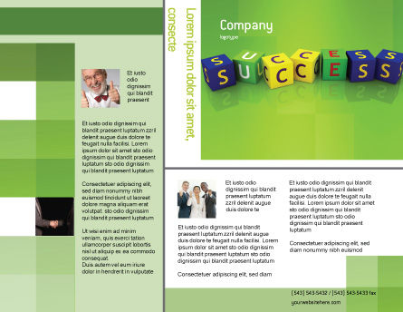 Success Brochure Template, Outer Page, 02869, Business Concepts — PoweredTemplate.com