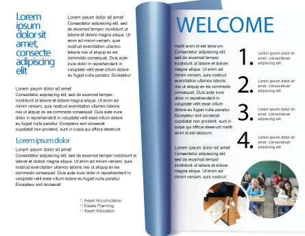 Educational And Psychological Test Brochure Template, Inner Page, 02870, Education & Training — PoweredTemplate.com