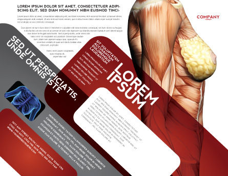 Female Anatomy Muscular Corset Brochure Template, Outer Page, 02872, Medical — PoweredTemplate.com