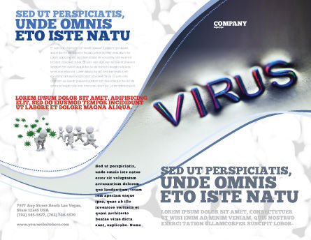 Virus Sign Brochure Template, Outer Page, 02875, Medical — PoweredTemplate.com