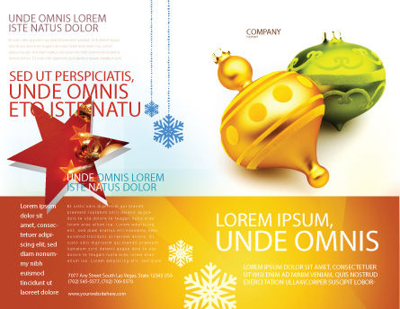Decorations Of New Year Brochure Template, Outer Page, 02886, Holiday/Special Occasion — PoweredTemplate.com