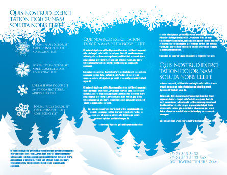 Forest Snow Brochure Template, Inner Page, 02888, Holiday/Special Occasion — PoweredTemplate.com