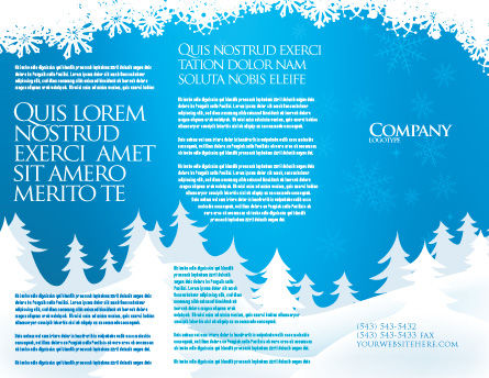 Forest Snow Brochure Template, Outer Page, 02888, Holiday/Special Occasion — PoweredTemplate.com