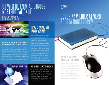 Internet Libraries Brochure Template, Outer Page, 02894, Education & Training — PoweredTemplate.com