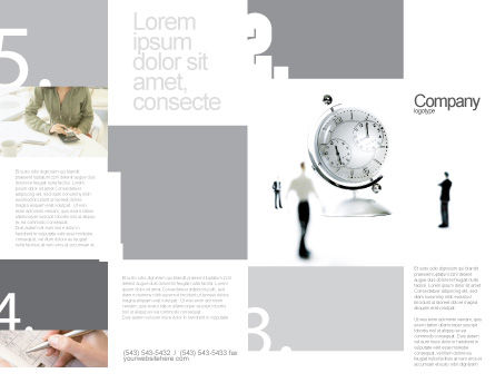 World Time Brochure Template, Outer Page, 02898, Business — PoweredTemplate.com