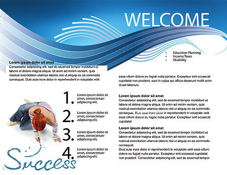 Women's Success Brochure Template, Inner Page, 02900, Consulting — PoweredTemplate.com