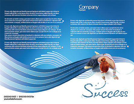 Women's Success Brochure Template, Outer Page, 02900, Consulting — PoweredTemplate.com
