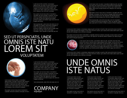 Embryo Brochure Template, Inner Page, 02903, Medical — PoweredTemplate.com