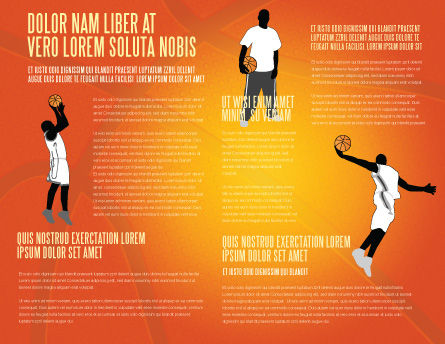 Basketball Brochure Template Inner Page