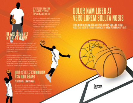 Basketball Brochure Template Outer Page