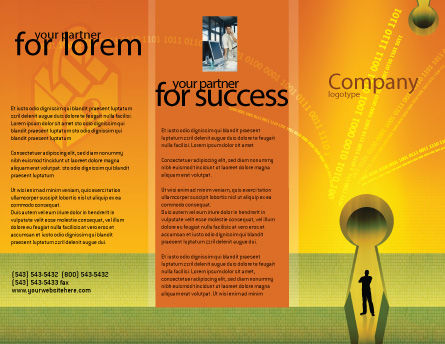 Digital Fortress Brochure Template, Outer Page, 02910, Business Concepts — PoweredTemplate.com