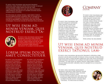 Red Carpet Brochure Template, Inner Page, 02912, Consulting — PoweredTemplate.com