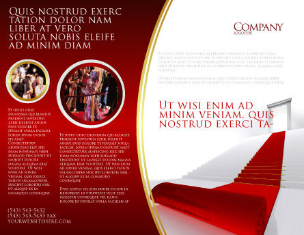 Red Carpet Brochure Template, Outer Page, 02912, Consulting — PoweredTemplate.com