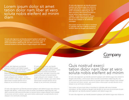 Yellow Waves Brochure Template Inner Page