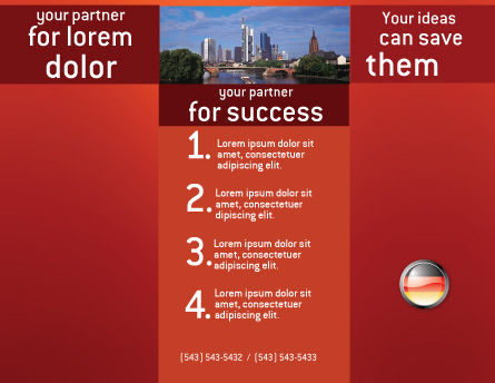 Germany Sign Brochure Template, Inner Page, 02920, Flags/International — PoweredTemplate.com
