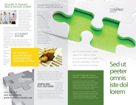Part of the Whole Brochure Template, Outer Page, 02930, Business Concepts — PoweredTemplate.com