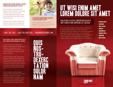 Comfort Chair Brochure Template, Outer Page, 02933, Careers/Industry — PoweredTemplate.com