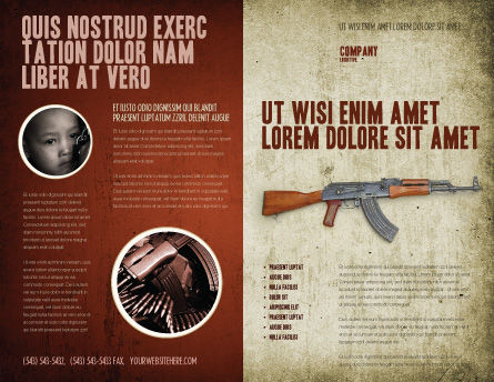 Kalashnikov Brochure Template, Outer Page, 02934, Military — PoweredTemplate.com