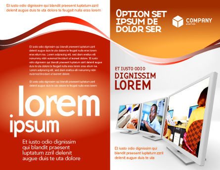 Computer Education In School Brochure Template, Outer Page, 02935, Education & Training — PoweredTemplate.com
