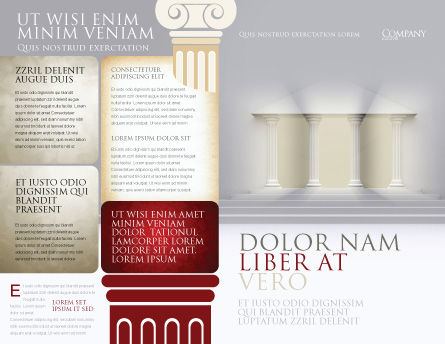 Portico Brochure Template Outer Page