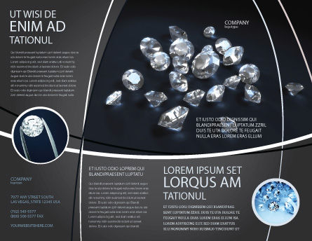 Diamonds Brochure Template, Outer Page, 02938, Careers/Industry — PoweredTemplate.com