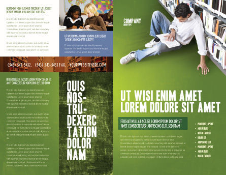 Self-education Brochure Template, Outer Page, 02948, Education & Training — PoweredTemplate.com
