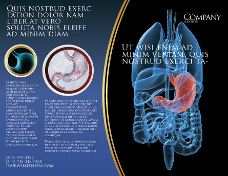 Stomach Brochure Template, Outer Page, 02949, Medical — PoweredTemplate.com