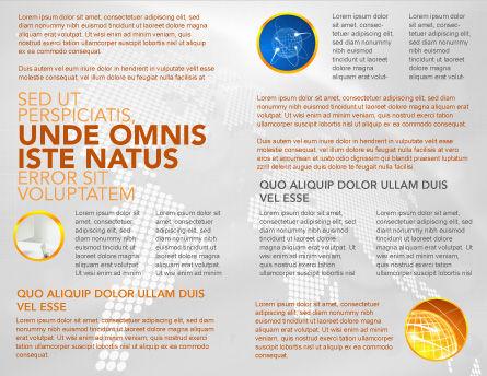 Orange Telephone Brochure Template, Inner Page, 02951, Telecommunication — PoweredTemplate.com