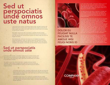 Red Blood Cells Brochure Template, Inner Page, 02953, Medical — PoweredTemplate.com