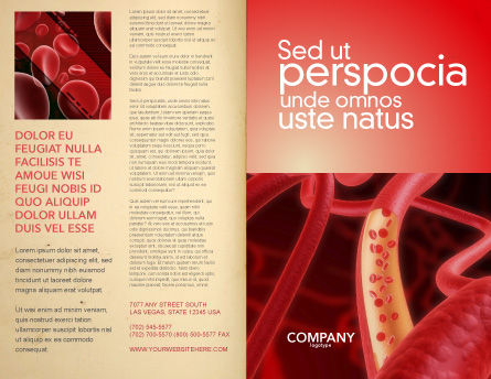 Red Blood Cells Brochure Template, Outer Page, 02953, Medical — PoweredTemplate.com