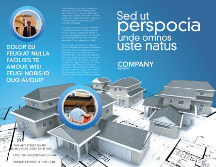 House Building Brochure Template Outer Page