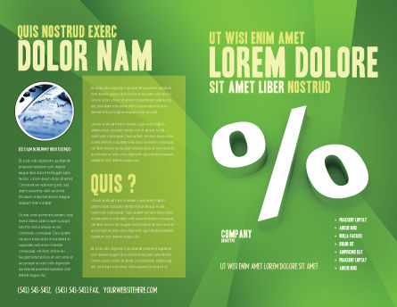 Percent Sign Brochure Template Outer Page