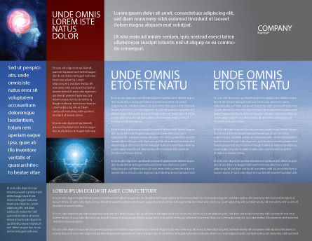 Robot Brochure Template, Inner Page, 02958, Technology, Science & Computers — PoweredTemplate.com