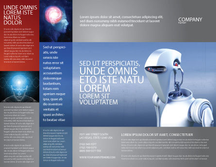 Robot Brochure Template, Outer Page, 02958, Technology, Science & Computers — PoweredTemplate.com