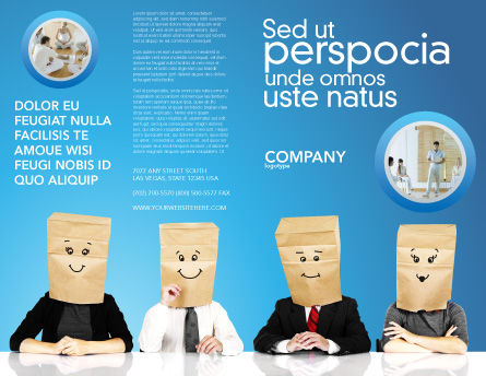Social Mask Brochure Template, Outer Page, 02960, Consulting — PoweredTemplate.com