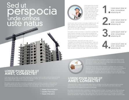 Building Plot Brochure Template Inner Page