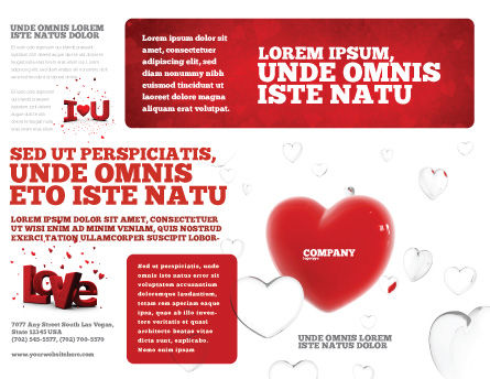 Hearts Brochure Template Outer Page