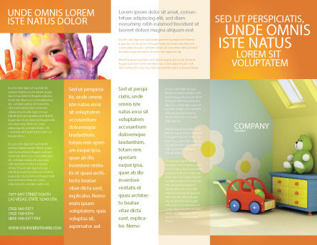 Day Nurseries Brochure Template Outer Page