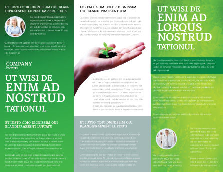 Sprout Brochure Template, Inner Page, 02983, Nature & Environment — PoweredTemplate.com