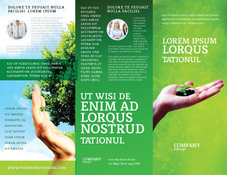 Sprout Brochure Template, Outer Page, 02983, Nature & Environment — PoweredTemplate.com