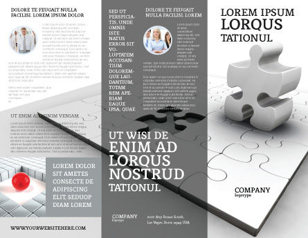 Part Brochure Template, Outer Page, 02984, Business Concepts — PoweredTemplate.com