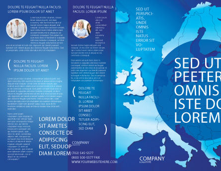 Europe Brochure Template Outer Page