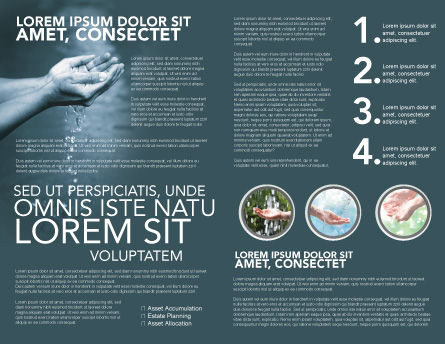 Water Brochure Template, Inner Page, 02995, Nature & Environment — PoweredTemplate.com