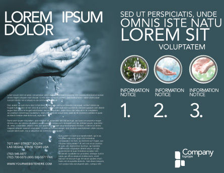 Water Brochure Template, Outer Page, 02995, Nature & Environment — PoweredTemplate.com
