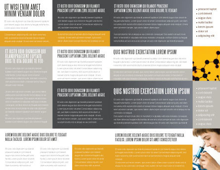 Atom Structure Brochure Template, Inner Page, 03000, Technology, Science & Computers — PoweredTemplate.com